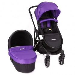 BABY MONSTERS WÓZEK TRIO GLOBE 2W1 Z ADAPTERAMI MAXI-COSI PURPLE